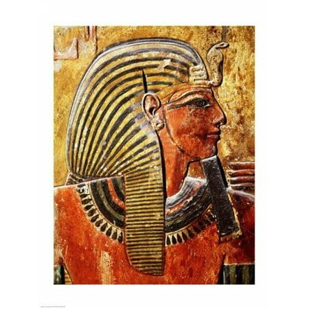 Image of The head of Seti I Canvas Art - (18 x 24)