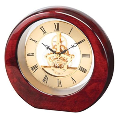 Chass See Thru Clock in Mahogany Finish
