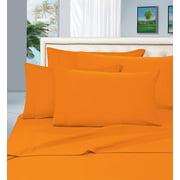 Elegant Comfort 1800 Thread Count Deep Pocket 4pc Bed Sheet Set , Queen Vibrant Orange