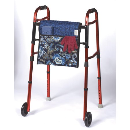 Double Sided Quilted Walker Bag Print Blue