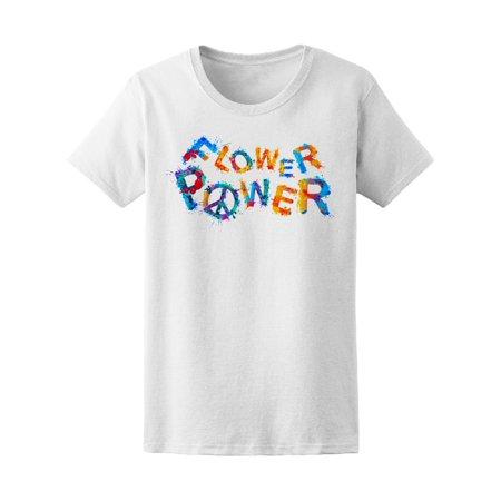 Flower Power Short - Flower Power Hippie Word Art Tee Women's -Image by Shutterstock