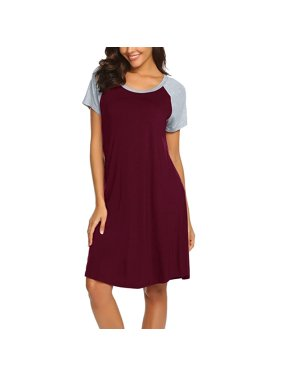 2019 hot sales Women Maternity Dress Nursing Baby Nightgown Breastfeeding Nightshirt Sleepwear