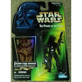 Hasbro Green - Star Wars: Power of the Force Green Card Death Star Gunner Action Figure, Star Wars: Power of the Force 3/4 green card with hologram action figure from.., By Hasbro Ship from US