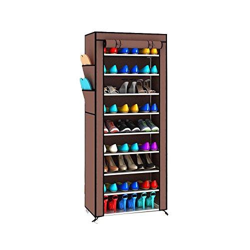 Magshion Super Portable Closet Rack Storage Cloth Shoe Organizer Cloth Super Wine