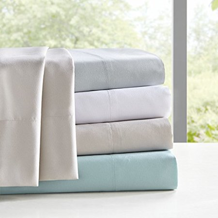 Sleep Philosophy Copper Touch Copper Infused Anti-Microbial Wrinkle and Fade Resistant Hypoallergenic 4 Piece Sheet Set, King Size, Aqua - image 1 of 1