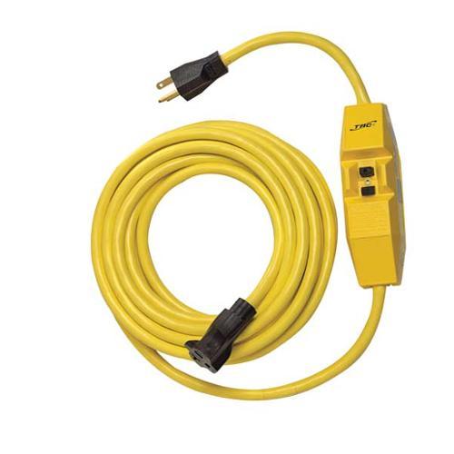 CSA 25080 025-2 Line Cord GFCI, 20A, 120V, 25 ft, Yellow