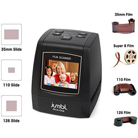 Jumbl 22MP Slide Scanner w/ Speed-Load Adapters for 35mm Negative & Slides