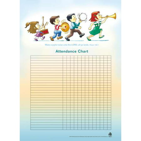 Attendance Chart-Music/Children w/Psalm 100:1 (20