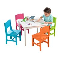 KidKraft Nantucket Table & 4 Chair Set - Bright