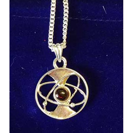Raven Blackwood Imports Symbol of Energy Focus Intention Intuition Velvet Pouch Brass Necklace Chain