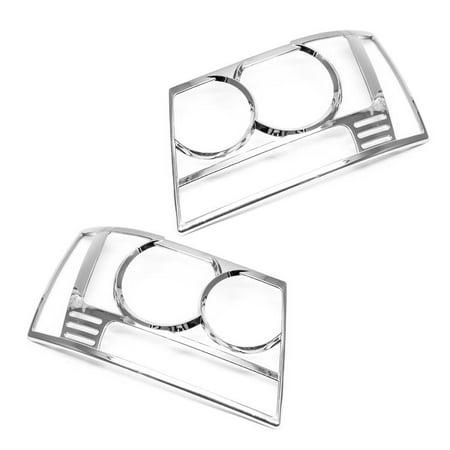 Sizver Chrome Headlight Covers For 2007-2014 Chevrolet