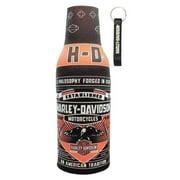 Harley-Davidson Conquest Black Bottle Wrap Zippered w/ Bottle Opener BZ121730, Harley Davidson