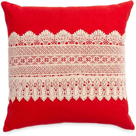 (The Pioneer Woman Crochet Band 18x18 Decorative Pillow)