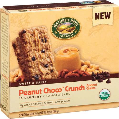 Nature's Path Organic Peanut Choco Crunch Granola Bars, 7.05 oz, (Pack of 6)