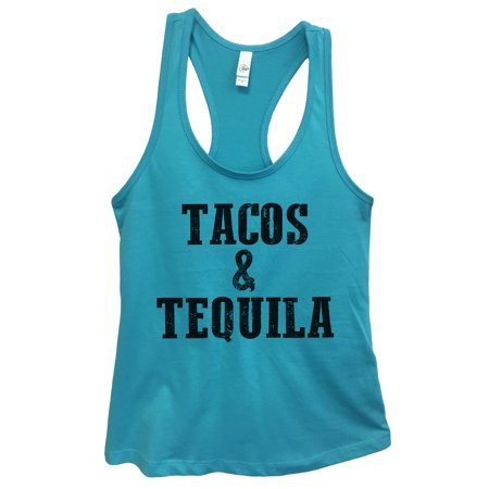"2afa63a8cf9dc Womens Basic Tank Top Mexican Food Party Shirt ""Tacos and Tequila"" Funny  Threadz Large"