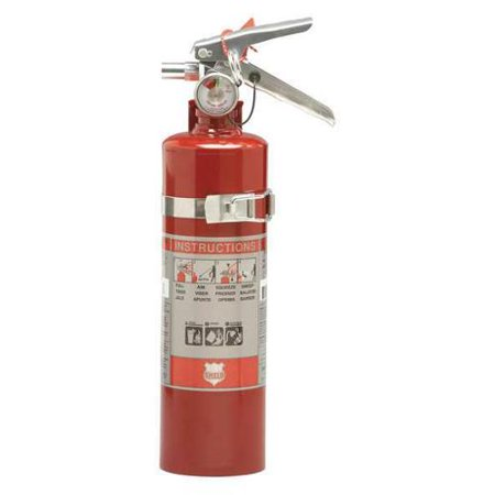 Shield Fire Protection 2.5 lb. Capacity, Fire Extinguisher, Dry Chemical, 13315DAUT
