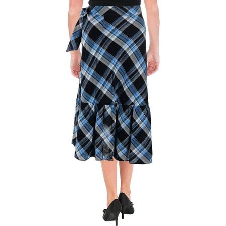 Lauren Ralph Lauren Womens Plaid Ruffled Asymmetrical Skirt - Cheap Plaid Skirts Halloween
