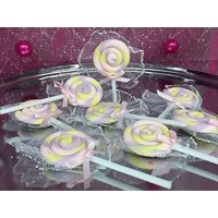 12 Swirl Lollipop Baby Shower 1st Birthday Party Favors Decorations