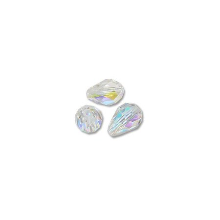 Swarovski Crystal Circle Drop (Swarovski Tear Drop Beads 5500 9x6mm Crystal AB (Package of 1))