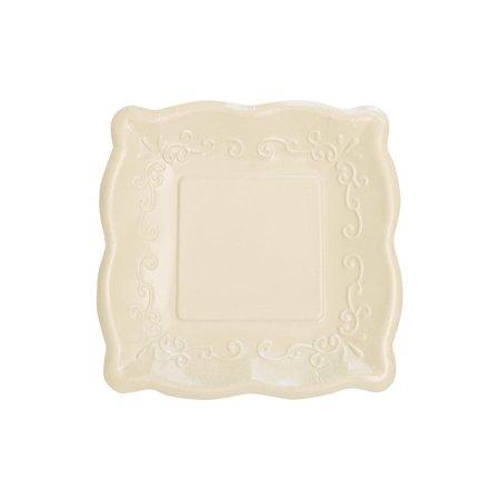 Creative Converting Linen Embossed Dessert Plates, 7 Inch, 8 - Rowan Creative Linen