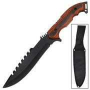 Obstructer Sawback Survival Full Tang Knife