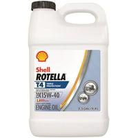 Shell Rotella T4 15W-40 Heavy Duty Diesel Oil, 2.5 gal.