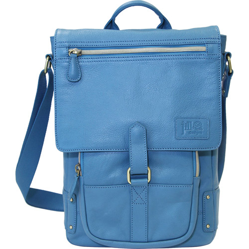 Jill-e Emma Leather Cross Body Laptop and Tablet Bag With Shoulder Carry Strap
