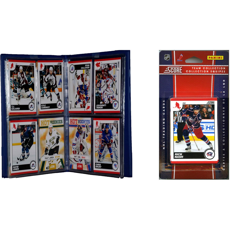 C&I Collectables NHL Columbus Blue Jackets Licensed 2010 Score Team Set and Storage Album