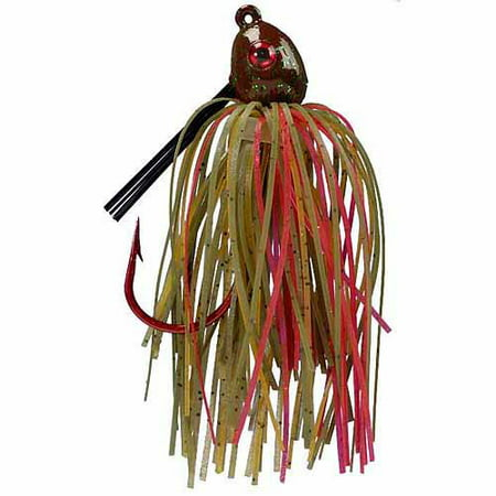 Strike King Bleeding Jig, Green Crawfish (Lead Jig)