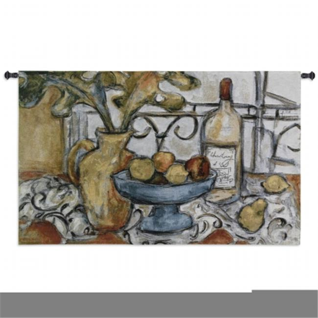 FineArtTapestries 2780-WH Still Life With Black and White Wall Tapestry