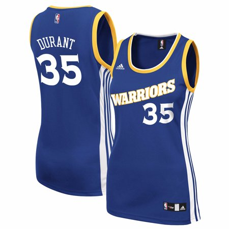 Kevin Durant Golden State Warriors NBA Adidas Women's Blue Official Road Replica Jersey (Kevin Durant Party Supplies)