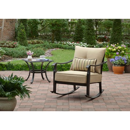 Better Homes And Gardens Shutter Cushioned Outdoor Rocking Chair