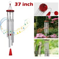 "Wind Chimes Outdoor, TSV Large Wind Chimes, 37"" Garden Chimes with 6 Aluminum Tuned Tubes for Indoor Outdoor Garden Patio Decor"