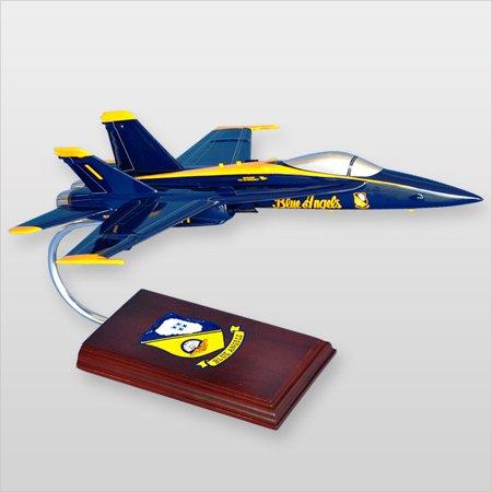 F/A-18A Hornet Blue Angels Wood Desktop Model (Blue Angels Model Kit)