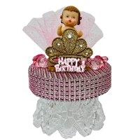 "Birthday Princess Girl Cake Topper Decoration Keepsake Gift 6.5"" H"