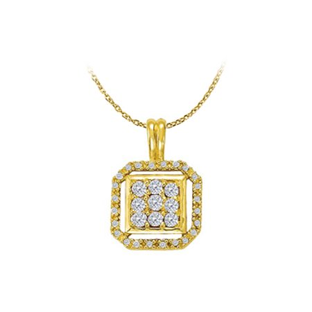 Conflict Free Diamond Pendant in 14K Yellow Gold - image 1 de 2