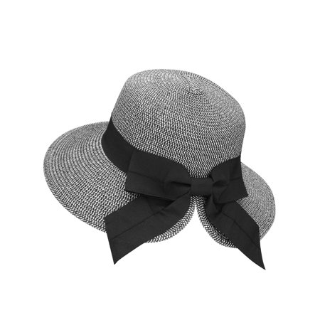 Simplicity - Sun Hat Women s Foldable Packable Floppy Straw Beach Bucket Hat ad612a0c91a
