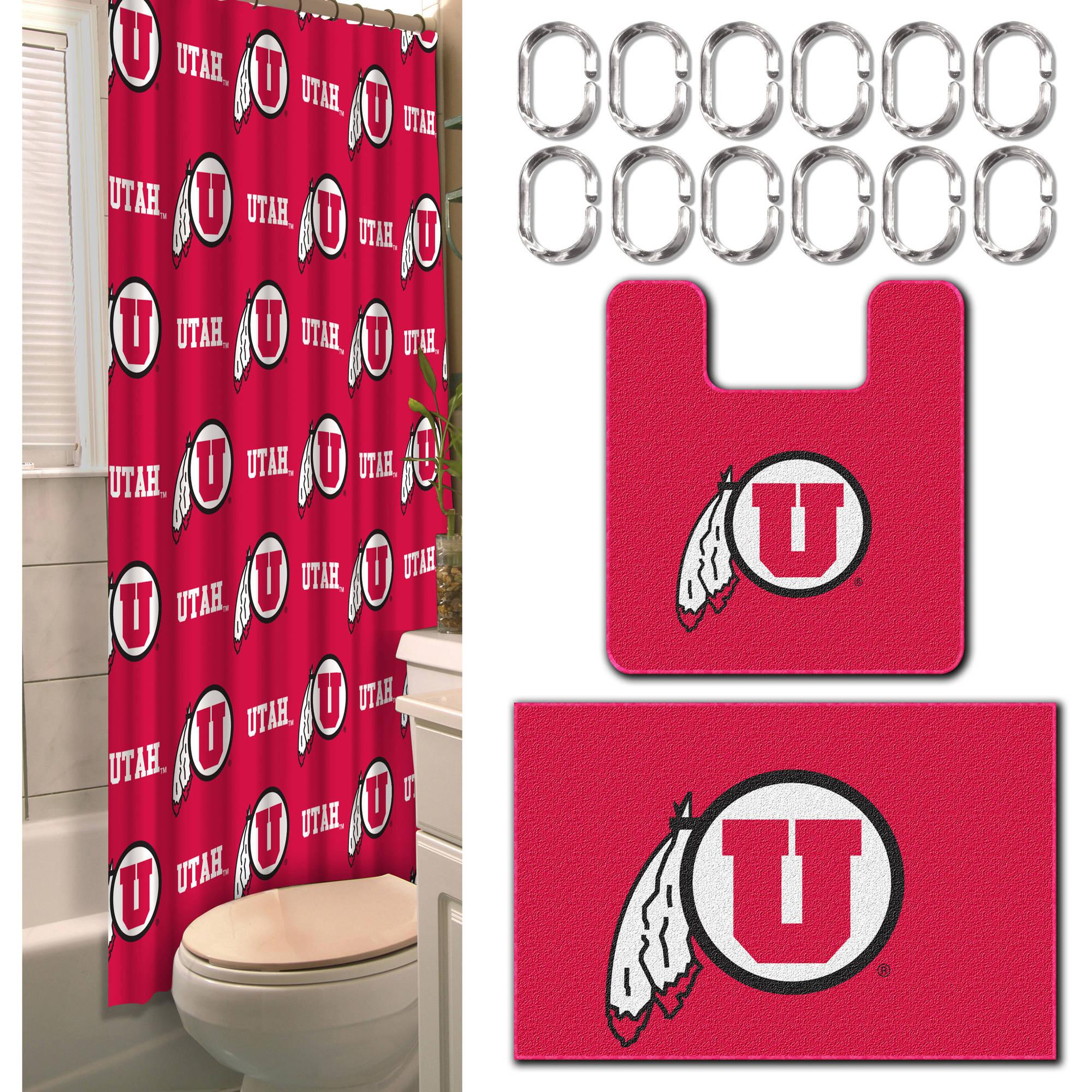 NCAA Utah Utes 15-Piece Bath Set