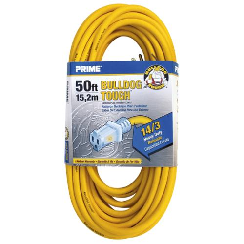 Prime  LT511730 50' 14/3 SJTOW Yellow Bulldog Tough Contactor Ext Cord