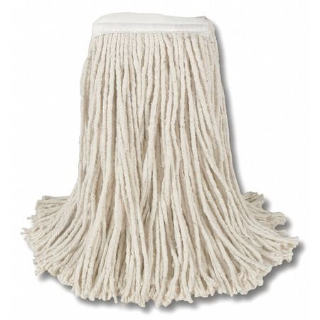 ZORO G4151360 Narrow Band Wet Mop,Cotton Cut End,#16