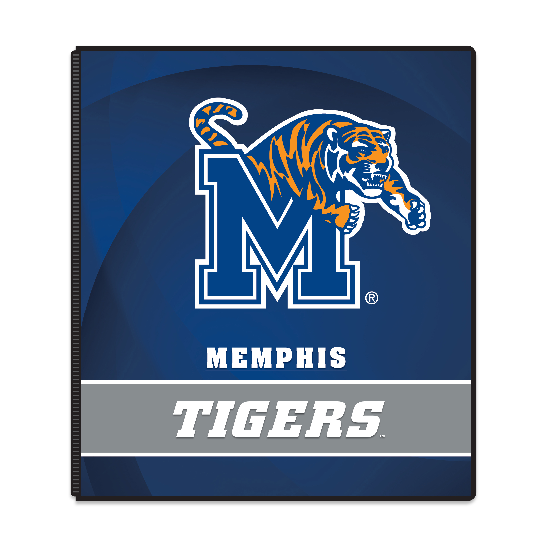 "NCAA Memphis Tigers 3 Ring Binder, 175 Sheet Capacity, 1"" Metal Rings"