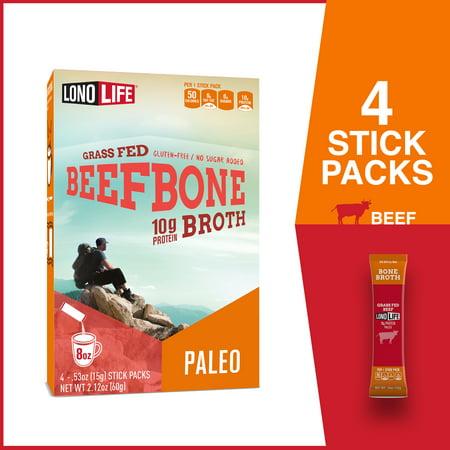 Lonolife Beef Bone Broth - 4 Pack Stick Packs