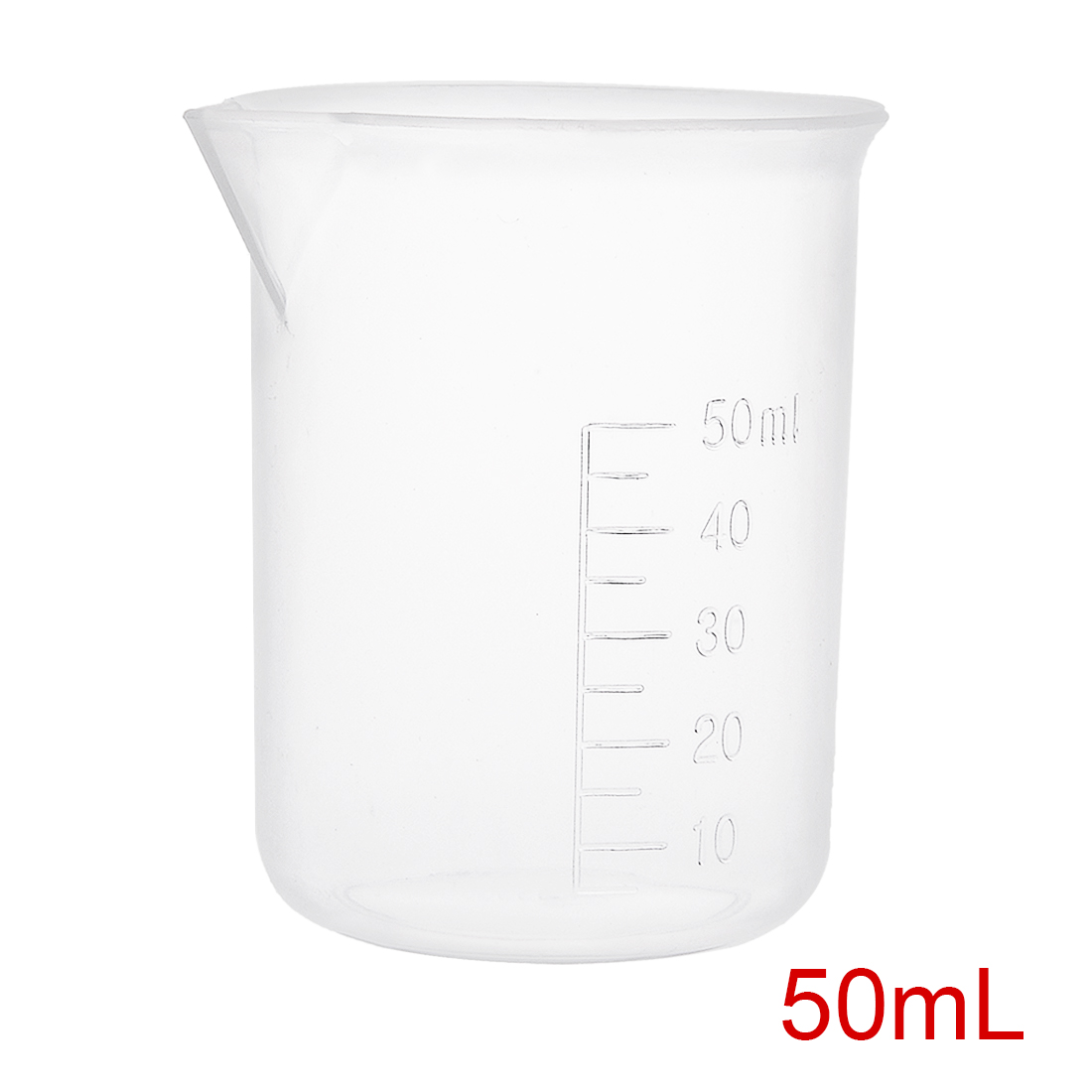 2pcs Measuring Cup Labs PP Graduated Beakers 50ml by Unique-Bargains