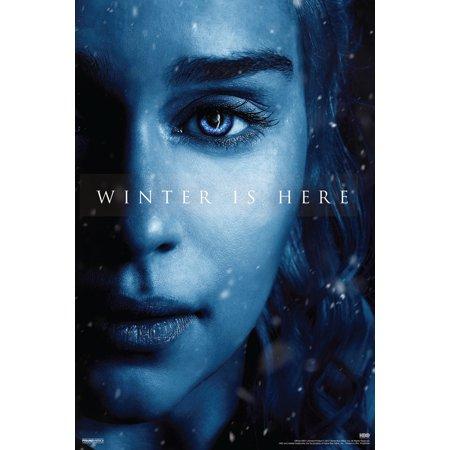 Game Of Thrones Season 7 Daenerys Targaryen Winter Is Here Tv Show Poster 12X18 Inch