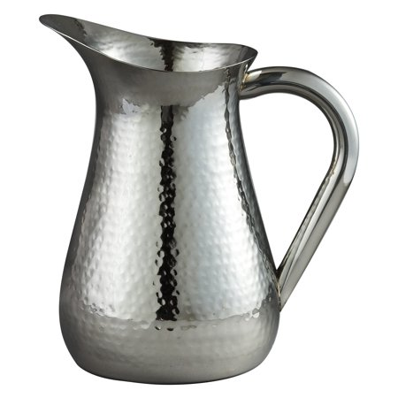 Leeber 48 oz. Hammered Stainless Steel Pitcher