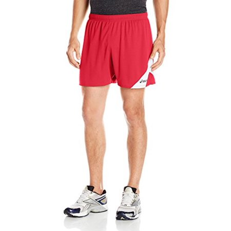 Asics Mesh Shorts (ASICS Men's Break Through Performance Shorts, Red/White, XX-Large)
