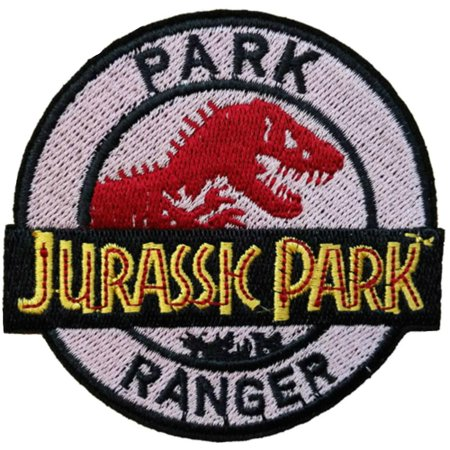 Superheroes Jurassic Park Movie Ranger Logo Embroidered Iron/Sew-on Applique Patches