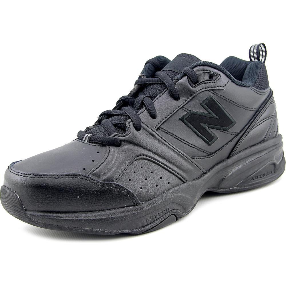 New Balance WX623AB3 Women  Round Toe Leather Black Sneakers