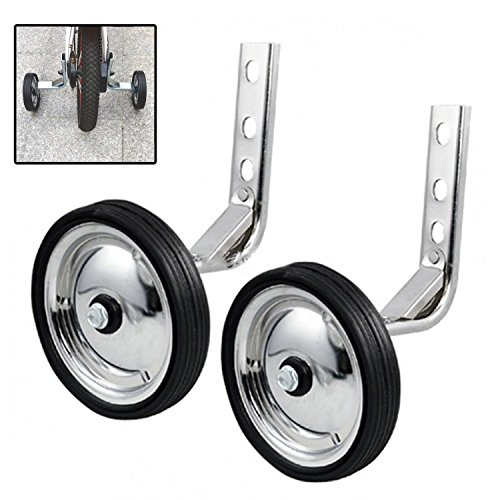 2pcs Bicycle Mute Training Wheels for 12-20 inch Single Speed Bicycle Stabilizer
