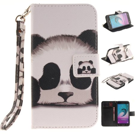 Galaxy J1 2016 Case  Galaxy Express 3 Case Xyx  Panda  Painted Lanyard  Pu Leather Wallet Case Kickstand Cover With Built In Slots Case For Samsung Galaxy J1 2016   Amp 2   Express 3